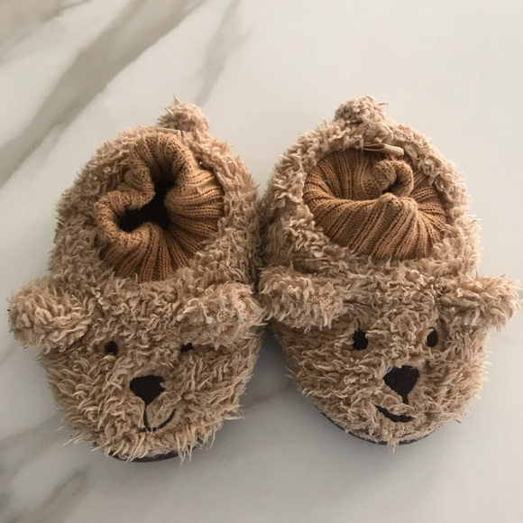 Baby Gap Teddy Bear Slippers Small